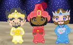 The 3 Wise Men chibi style by E-Ocasio