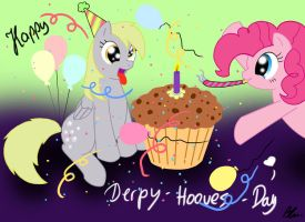 Happy Derpy Hooves Day x3 by RamaLllama