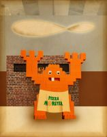 Pizza Monster by goodmorningvoice