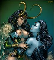 Loki and Miss Sinister by Candra