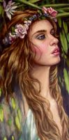 Ophelia..close up ..oils by xxaihxx