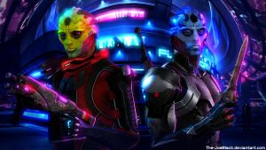 Mass Effect - Thane and Ekram by The-JoeBlack