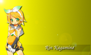 Rin Kagamine Yellow Wallpaper by Mito94