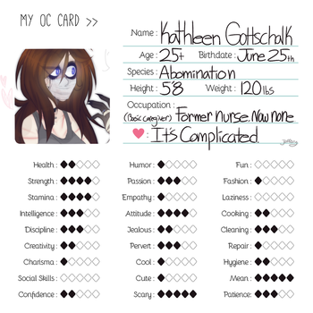 it's Her {oc card} by vintricktive