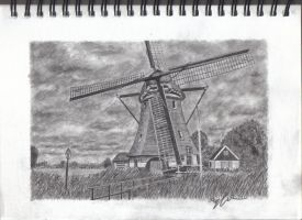 Dutch windmill by Jarryn