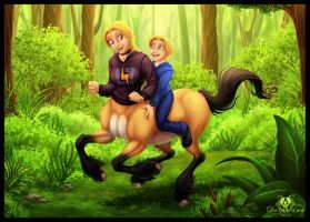 Centaur Ride by DolphyDolphiana