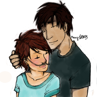 Hazel and Augustus by Meides-Cross