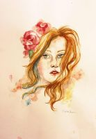 painting watercolor portrait by anymous01
