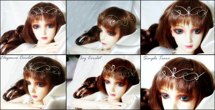 Dollfie Elven Circlets by algy