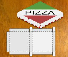 Blank Pizza Box Template by danbradster