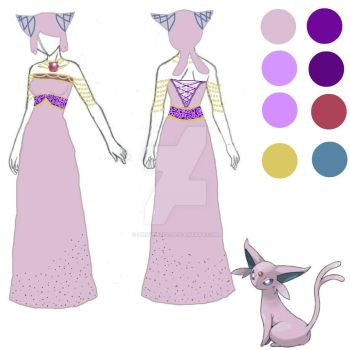 Espeon Cosplay Design by Pikavee2231