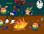 Klonoa and the pygmy moos by Bryanthefox117