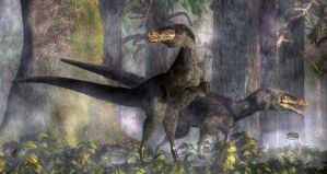 Velociraptors Hunting by deskridge