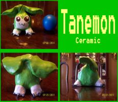 Tanemon - Ceramic Sculpture by Destiny-The-Hedgimon
