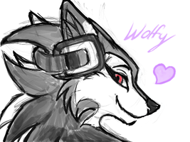 Wolfy DS doodle by Enigmatic-Wolf