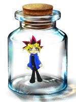 Yuugi in a bottle by plastic-smiles23