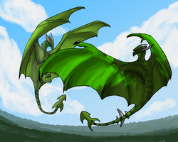 Green Dragon by Morgan-Michele