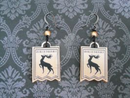 GOT House Baratheon Earrings by AriesNamarie