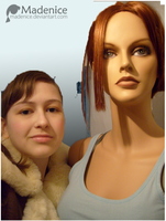 Me and my TR Cosplay mannequin by Madenice