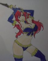 Erza Fantasia Coloring by FlyingLion76