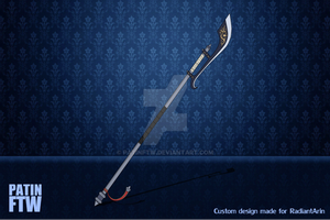 Commission - Marshall's Bardiche by PatinFTW