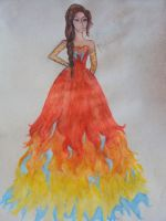 The girl on fire by MarcelaInWonderland