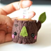 Stump Keychain Friend by hitree