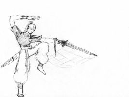 Chinese dude sword-swinging by BlueGent