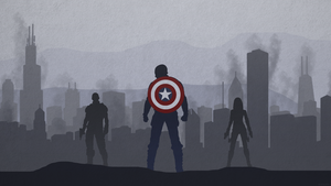 CAPTAIN AMERICA WINTER SOLDIER - DESKTOP WALLPAPER by skauf99