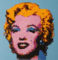 Marilyn Monroe Andy Warhol Bead Portrait by monochrome-GS