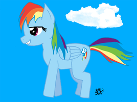 Rainbow Dash Fanart by DespisedAndBeloved