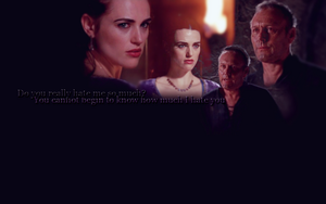 Morgana and Uther by Evangelinel