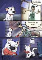 Bolt, Dog Fight deleted Scene. Pg 1 of 6. by wolfmarian
