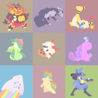 Patchwork Pokemon by Zhampy