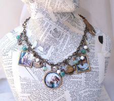 Alice in wonderland necklace by Archaic76