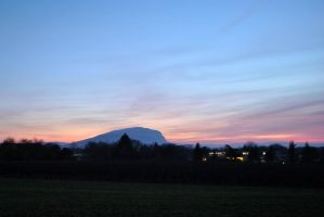Le Saleve at sunset by Nanook94