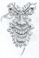 joker face tat2 commission by markfellows