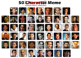 50 Hottest Guys Meme by FalseDisposition