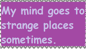 My Mind Goes to Strange Places Stamp by PsychoDemonFox