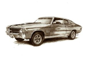 chevy chevelle by tin23uk