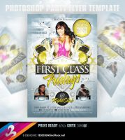 First Class Fridays Party Flyer Template by AnotherBcreation