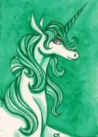 Green Unicorn by tee-kyrin