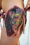 green day of the dead girl by tat2istcecil