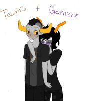Tavros + Gamzee by crazy-chick29