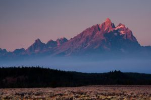 Grand Teton Morning Smoke by mikewheels