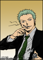 Zoro coloring, Iromono Club by AnnaHiwatari