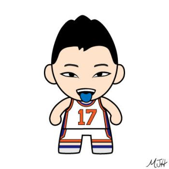 Jeremy Lin (White) by meijeanie