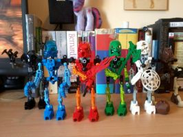 G1 Bionicles by Vector-Brony