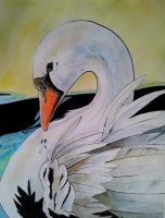 Swan in profile by BecciES