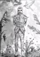 Sheogorath- daedric lord of madness (uncolored) by Spynder4